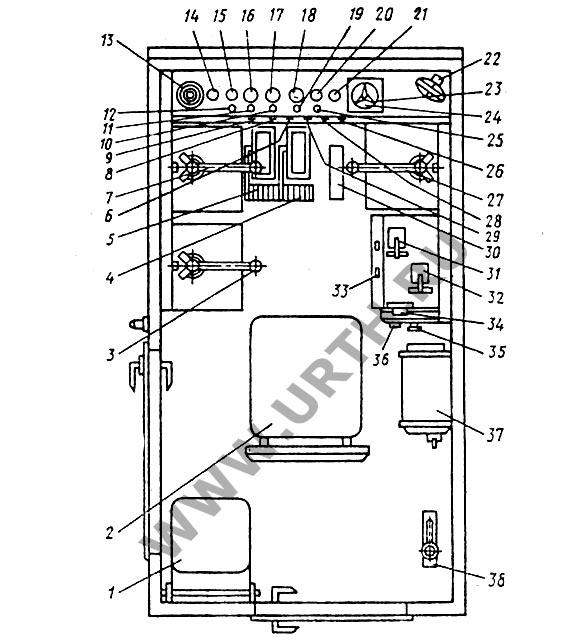 Схема кабины гусеничного крана